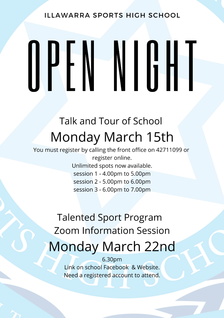 Open Night Flyer