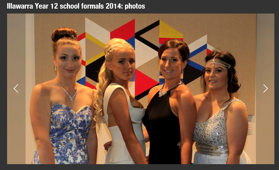 Illawarra Mercury Year 12 Formal Special Article featuring our